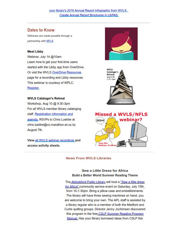 WVLS Newsletter 13 July 13 2017 Page 2