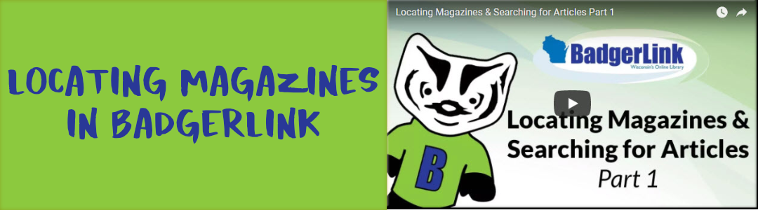 Locating Magazines in Badgerlink: Yoga Journal, Money, even Highlights!