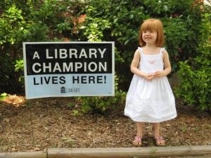 A Library Champion Lives Here: This Photo by Unknown Author is licensed under CC BY-NC-SA