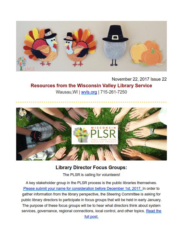 WVLS Newsletter 22 November 22 2017 Page 1