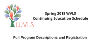 Spring 2018 CE Schedule
