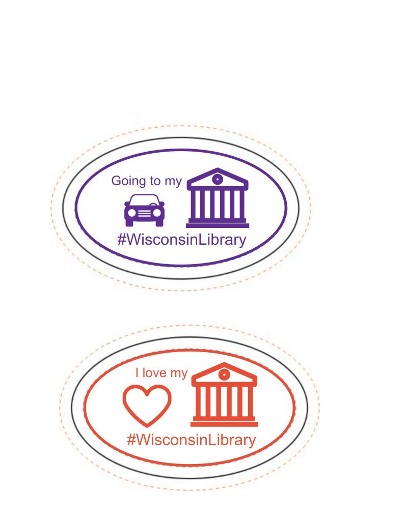 #WisconsinLibrary oval bumperstickers