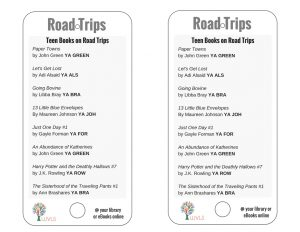Teen Books Discussing Road Trips