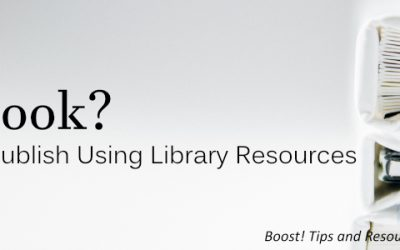 Boost! Wrote a Book? Format, Promote and Publish Using Library Resources